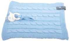 Blauwe Baby's Only speendoekje kabel uni baby blauw