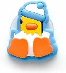 Witte Canar Eend Tandenborstel Houder voor Kinderen met Zuignap - Ice