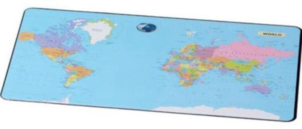 Afbeelding van Onderlegger Esselte 40x53cm met wereldkaart Nederlands