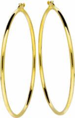 Goudkleurige Glow Gouden Creolen 2 mm breed x 54 mm ø 207.0020.54
