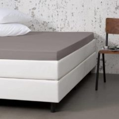 Witte Fresh & cold Comfort Topper Hoeslaken - Taupe - 160x200 cm - Jersey Stretch - Fresh & Co