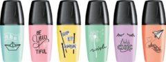 Stabilo BOSS Original mini markeerstift, doosje met 6 stuks in geassorteerde pastel kleuren