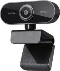 Zwarte Merkloos CE Webcam full HD (1080p) - Met ingebouwde microfoon - Webcam voor PC - USB - Eenvoudige installatie - Autofocus - Webcamera - Op computer - Vergaderen - Werk & Thuis - School - Windows & Mac