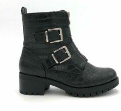 Shoesheaven.nl CROCO NEFF BOOTS - Maat 38 - Enkellaars - Croco - Zwart