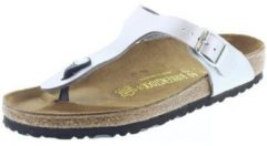 Zilveren Birkenstock Gizeh Dames Slippers Regular fit - Silver - Maat 35