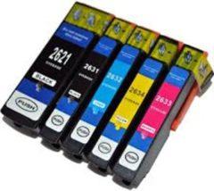 Cyane Goedkoopprinten Epson 26XL inkt cartridge set (5 stuks) - Huismerk