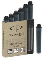 Zwarte Parker QUINK INK CARTRIDGES MINI PERMANENT BLACK (6)