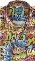 District Indigo Overhemd Graffiti Dance Multicolor (7.02.025.007.382)
