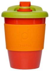 Oranje Set van 2 - Herbruikbare Koffiebeker - 340ml - Autumn Orange - Kunststof - Pioneer