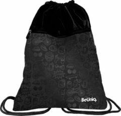 BeUniq Drawings gymbag - 47 x 37 cm - Zwart