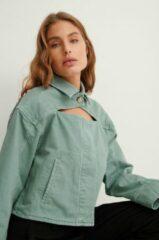 Groene NA-KD Trend Organisch Spijkerjack - Green