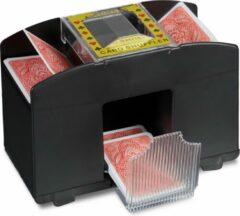 Relaxdays automatische kaartschudmachine voor 4 decks, poker schudmachine