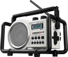 PerfectPro USBBOX 2 Baustellenradio mit USB, Akkus, RDS