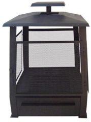 Zwarte Esschert design pagode terrashaard metaal 59 x 59 x 78 cm zwart ff122