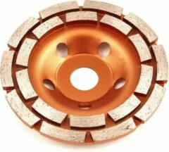 Bronze Lemato 125 mm Diamant Komschijf met Dubbele Rij