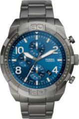 Fossil FS5711 Horloge Bronson Chronograaf staal smoke-blauw 50 mm