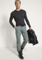 Hessnatur Herren-Outdoor Herren Funktionsshirt aus Bio-Merinowolle – grau – Größe 54