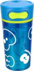 Fruitfriends Drinkbeker Push - Kunststof - 300 ml - Blauw