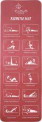 JAP Sports Sportmat met oefeningen - Trainings mat - Fitnessmat - Yogamat - Sport matje - Rood
