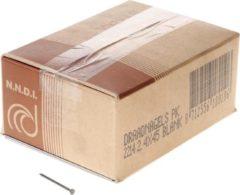 Klusgereedschapshop Draadnagel plat geruite kop blank 2.4 x 45mm