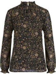 Zwarte Classic Inspirationen gedessineerde blouse