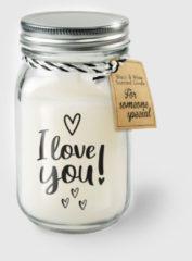 Witte Paper dreams Black & White geurkaars - I love you