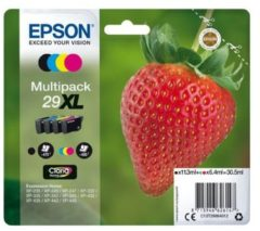 Epson Multipack 4-colours 29XL Claria Home Ink 6.4ml 11.3ml Zwart, Cyaan, Magenta, Geel 470pagina's 450pagina's inktcartridge