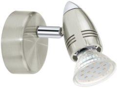 EGLO Magnum-Led Spot - 1 Lichts - Nikkel-Mat, Chroom