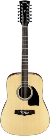 Afbeelding van Ibanez PF1512 Natural High Gloss 12-snarige akoestische gitaar