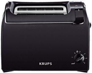Rode Krups toaster Pro Aroma KH1518, voor 2 sneetjes brood, 700 W, zwart