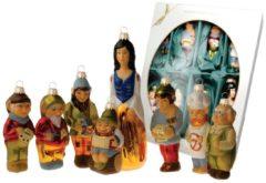Märchenset' Schneewittchen und die 7 Zwerge' Krebs Glas Lauscha multicolor