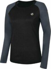 Dare 2b Exchange Thermo Sportshirt - Maat 44 - Vrouwen - zwart/grijs