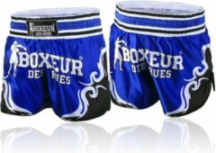 Blauwe Boxeur Des Rues Kick/Thai Shorts - Tribal Symbols Shorts