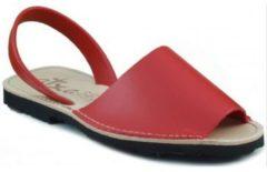 Rode Slippers Arantxa MENORQUINA LEDER