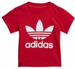 Rode T-shirt Korte Mouw adidas TREFOIL TEE
