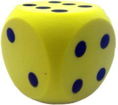 Speelgoed - Grote foam dobbelsteen geel 16 x 16 cm - Grote schuim dobbelsteen