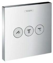 Hansgrohe ShowerSelect afbouwdeel voor inbouwkraan met 3 stopkranen voor 3 douchefuncties chroom 15764000