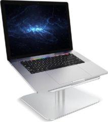 Zilveren Laptop standaard verstelbaar en 360 graden rotatie voor laptops en tablets - Laptop plateau - 11 t/m 17 inch - Lichtgewicht laptop / tablet steun - laptop verhoger - Apple Macbook Pro, iPad, Asus, HP, ACER, Microsoft - R2B