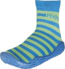 Playshoes Zwemsokken strepen blauw groen Maat: 28-29