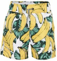 Groene claesen zwemshort met bananen print wit geel
