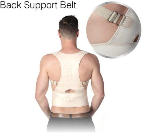Afbeelding van Witte Shopday Back Support Belt L-XL - Postuur Corrector - Steunvest - Rugpijn - Rugbrace voor houdingsondersteuning - Rugband - Houding Corrector