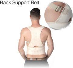Witte Shopday Back Support Belt L-XL - Postuur Corrector - Steunvest - Rugpijn - Rugbrace voor houdingsondersteuning - Rugband - Houding Corrector