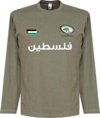 Kaki Retake Palestina Football Longsleeve T-Shirt - M