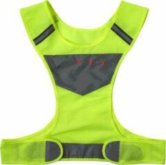 Merkloos / Sans marque 2x Gele veiligheidsvesten/hesjes reflecterend - Sportbenodigdheden/accessoires - Sportkleding - Veiligheidsvesten - Fluoriserende vesten volwassenen
