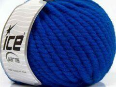 Ice yarns Wol breien met breinaalden maat 10 – 12 mm. – blauwe breiwol kopen pakket van 3 bollen garen 100 gram per bol 100% wol – breigaren van een fijne kwaliteit