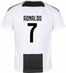 Zwarte Holland Juventus Voetbalshirt Ronaldo Thuis Kids/Senior-XXL