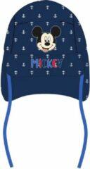 Donkerblauwe Disney Baby cap met nekflap Mickey mouse kleur donker blauw maat 48 Bonnet bébé avec rabat de cou Mickey mouse couleur bleu foncé taille 48