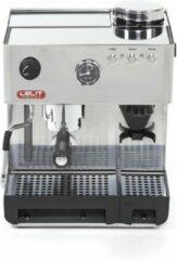 Roestvrijstalen Lelit Anita RVS espressomachine met bonenmolen