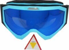 Blauwe Amoy Kibo TPU Ultra-Light frame. Dubbel layer lens Ski/Snowboard Goggle
