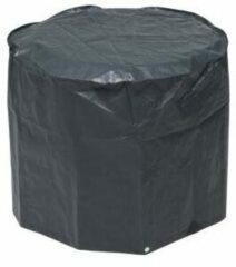 Zwarte Nature hoes voor kolenbarbecue 60 x 73 cm PE donkergrijs